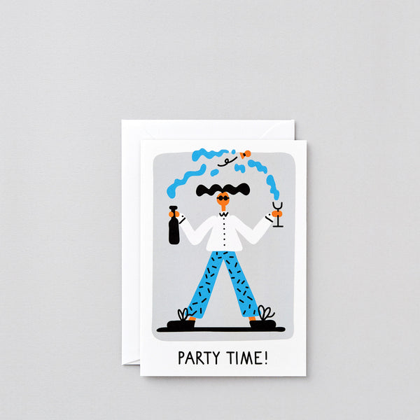 'Party Time' Greetings Card