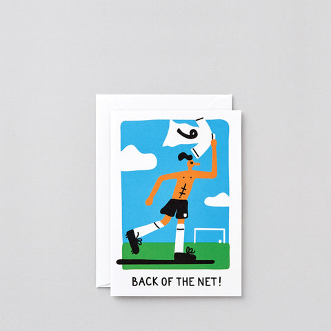 'Back Of The Net' Greetings Card