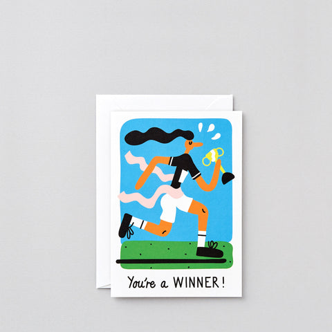 'You're A Winner' Greetings Card