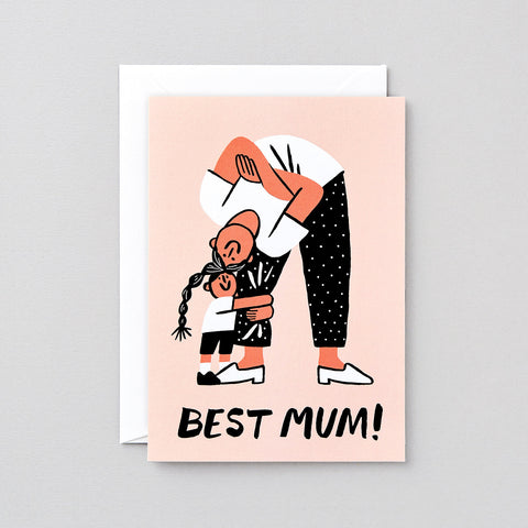 'Best Mum' Greetings Card