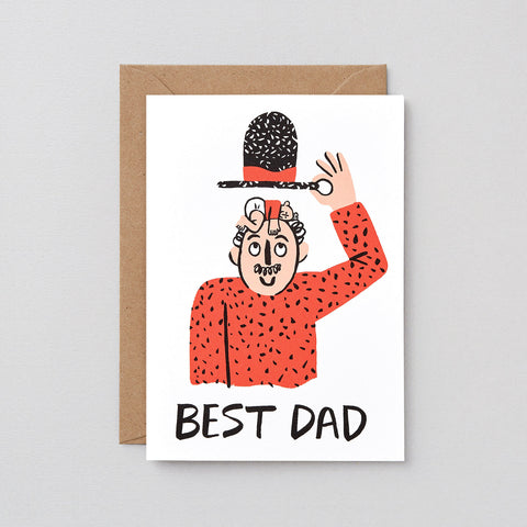 'Best Dad' Greetings Card