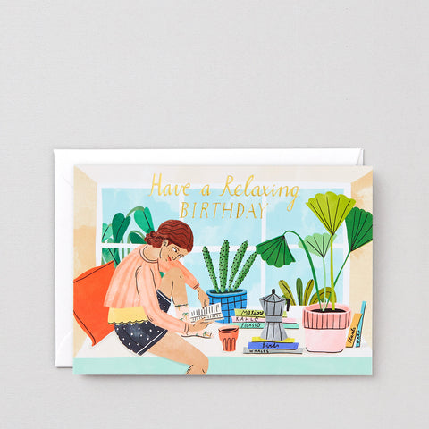 'Relaxing Birthday' Greetings Card