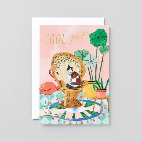 'Cool Pad' Greetings Card