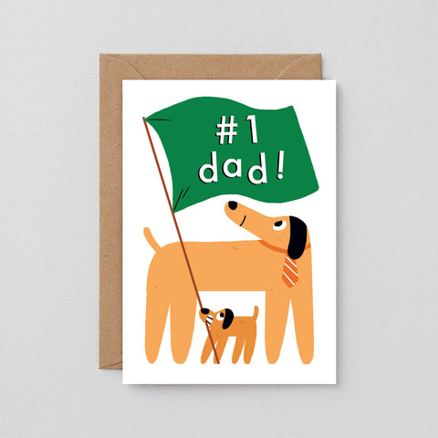 '#1 Dad' Greetings Card