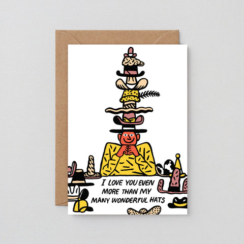 'Many Wonderful Hats' Greetings Card