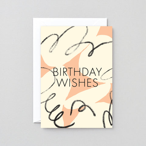 'Birthday Wishes' Foiled Greetings Card