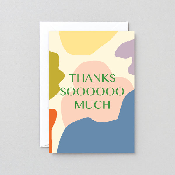 'Thanks Soooooo Much' Foiled Greetings Card