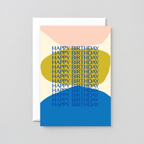 'HBHBHBHBHB' Foiled Greetings Card