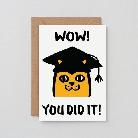 'Wow, You Did It' Greetings Card