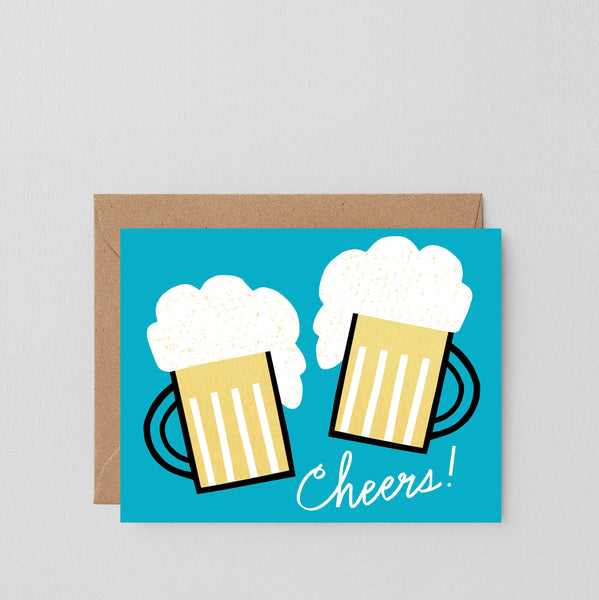 'Cheers Beers' Greetings Card