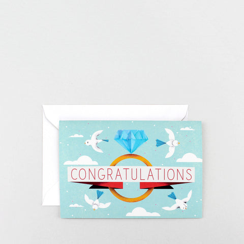 'Congratulations Ring' Greetings Card