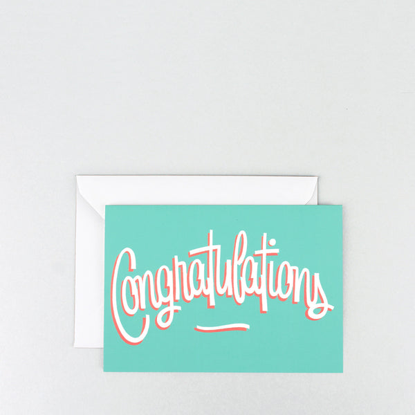 'Congratulations' Greetings Card