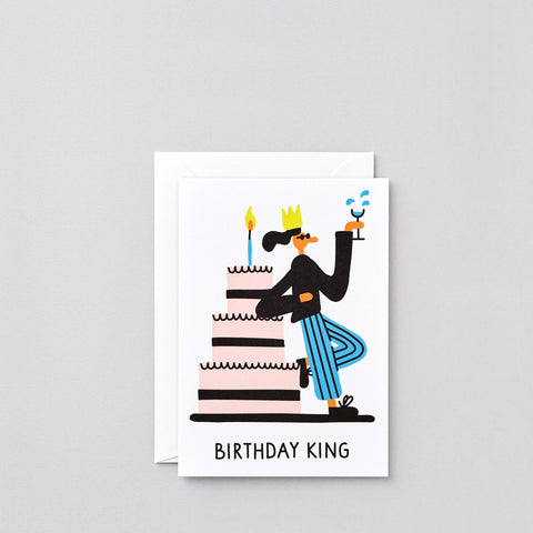 'Birthday King' Greetings Card