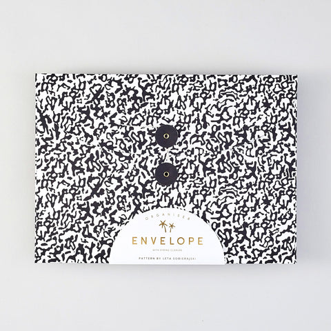 'Ripple Black' Organiser Envelope