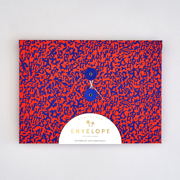 'Ripple Blue/Red' Organiser Envelope
