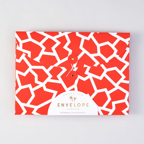 'Fracture Red' Organiser Envelope