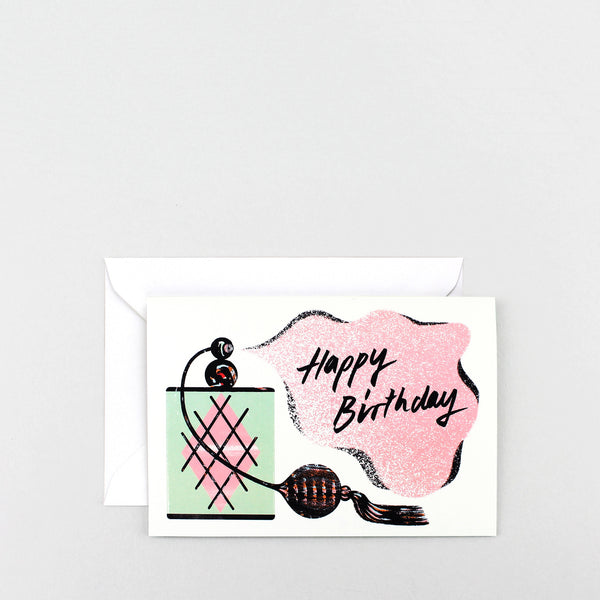 'Happy Birthday – Perfume' Greetings Card