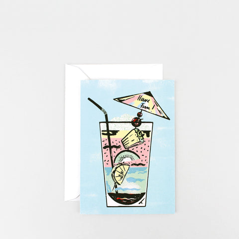 'Have Fun Cocktail' Greetings Card