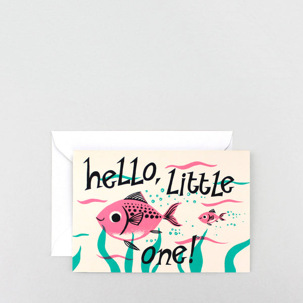 'Hello Little One' Greetings Card