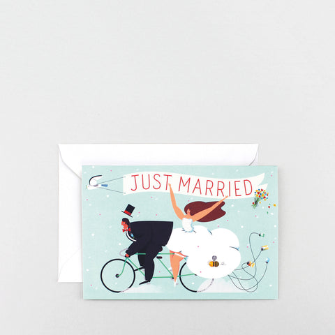 'Just Married' Greetings Card
