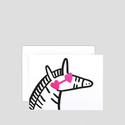 'Zebra' Mini Letterpress Card