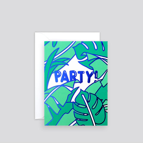 'Party!' Foil-Blocked Mini Card