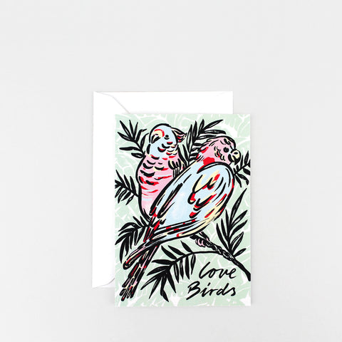 'Love Birds' Greetings Card