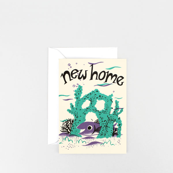 'New Home Fish' Greetings Card