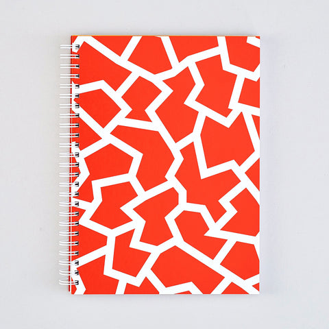 'Fracture Red' Large Notebook