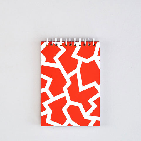 'Fracture Red' Small Notebook