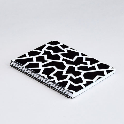 'Fracture Black' Large Notebook