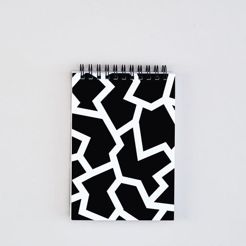 'Fracture Black' Small Notebook