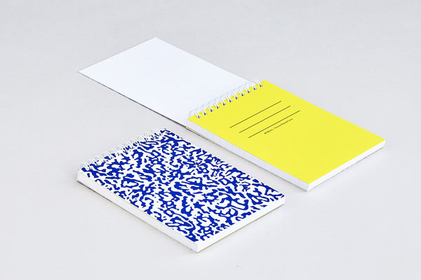 'Ripple White' Small Notebook
