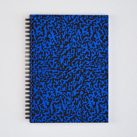 'Ripple Black' Large Notebook