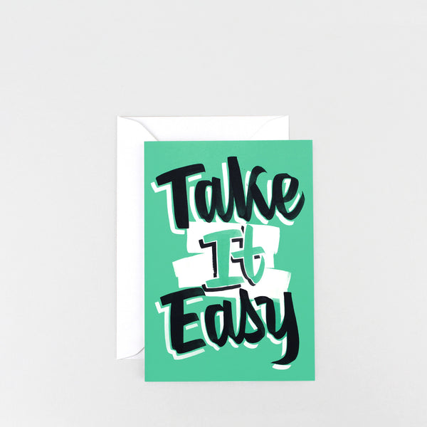 'Take it Easy' Greetings Card