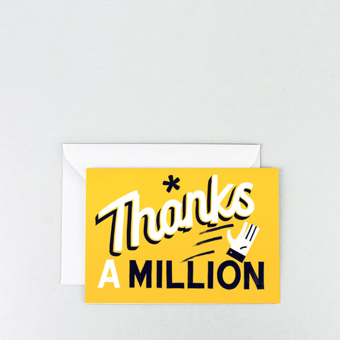 'Thanks a Million' Greetings Card