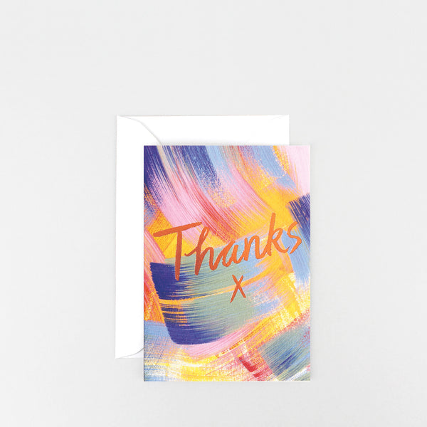 'Thanks' Foiled Greetings Card