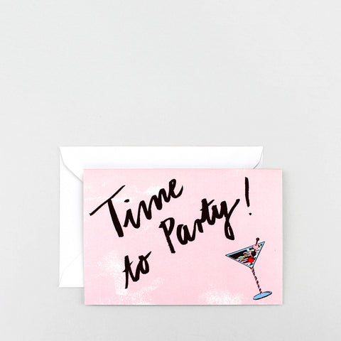 'Time to Party!' Greetings Card