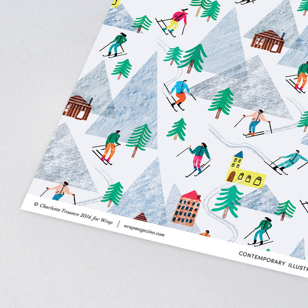 On the Slopes Wrapping Paper x 3 Sheets