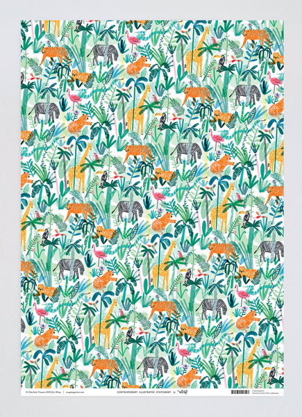 Jungle Animals Wrapping Paper x 3 Sheets