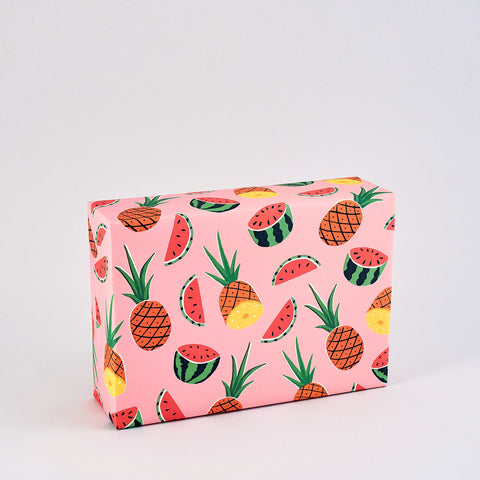 Pineapples & Melons Wrapping Paper x 3 Sheets