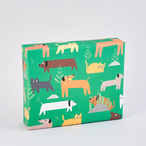 Cats and Dogs Wrapping Paper x 3 Sheets