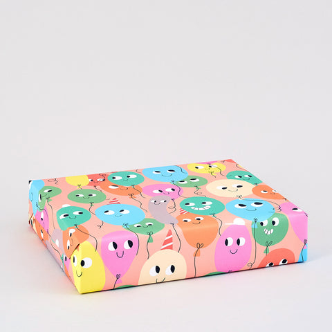 Balloons Wrapping Paper x 3 Sheets