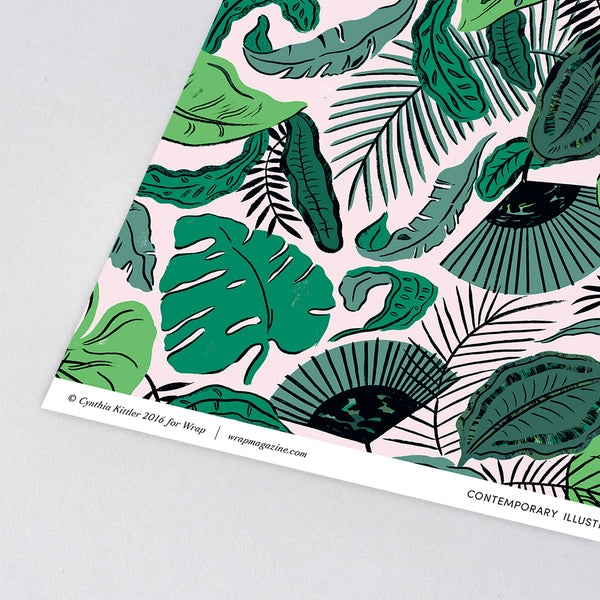 Tropical Leaves Wrapping Paper x 3 Sheets
