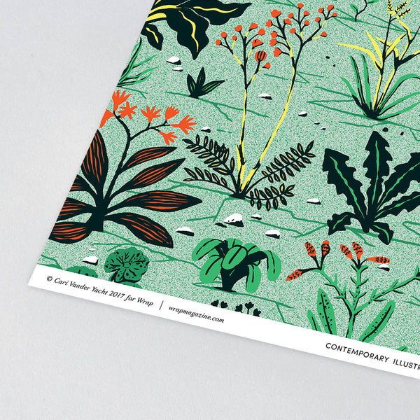 Weeds Wrapping Paper x 3 Sheets