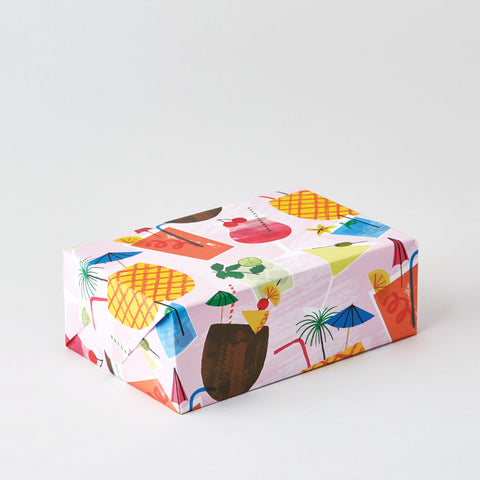 Cocktails Wrapping Paper x 3 Sheets