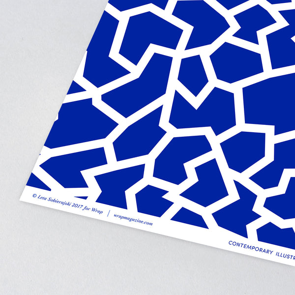 Fracture Blue Wrapping Paper x 3 Sheets