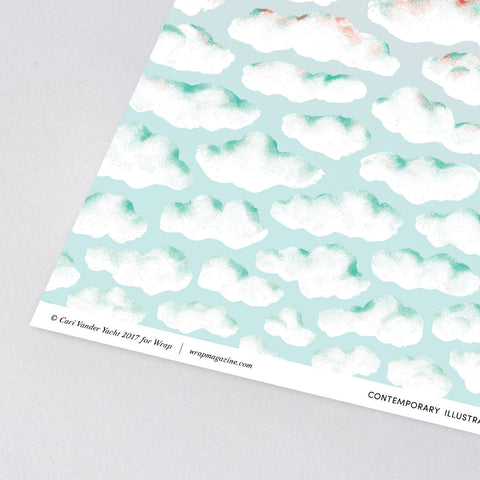 Clouds Wrapping Paper x 3 Sheets