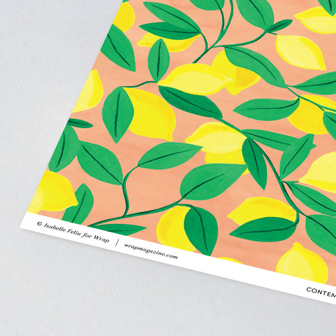 Lemons Wrapping Paper x 3 Sheets