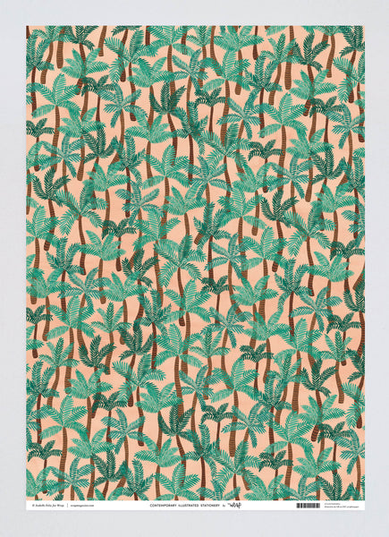 Palm Trees Wrapping Paper x 3 Sheets
